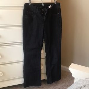 Black Bootcut Riders by Lee with Beads on Pockets